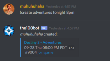 State of Decay 2 Discord Bot Create