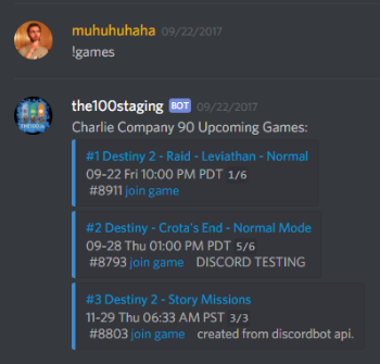 State of Decay 2 Discord Bot LFG