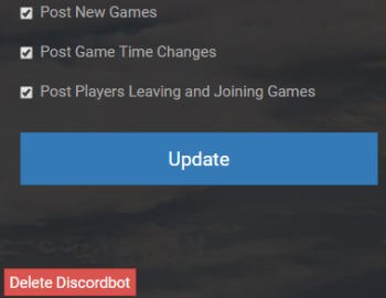 Grand Theft Auto 5 Discord Bot Settings